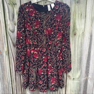 [Mimi Chica] Midi Pleated Floral Dress Small #292